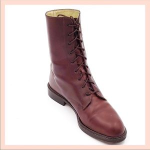 Stunning vintage Joan & David lace up boots.
